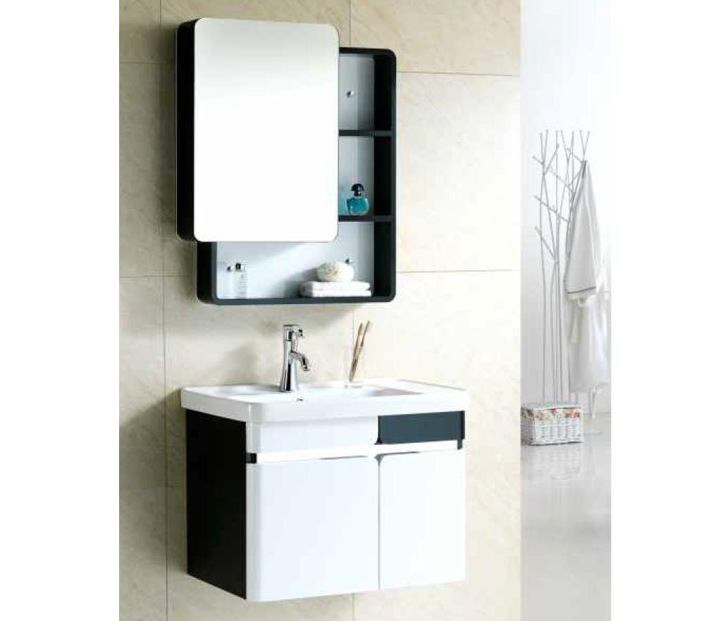 Chiếc tủ gương với thiết kế cửa trượt rất thuận tiện và bắt mắt