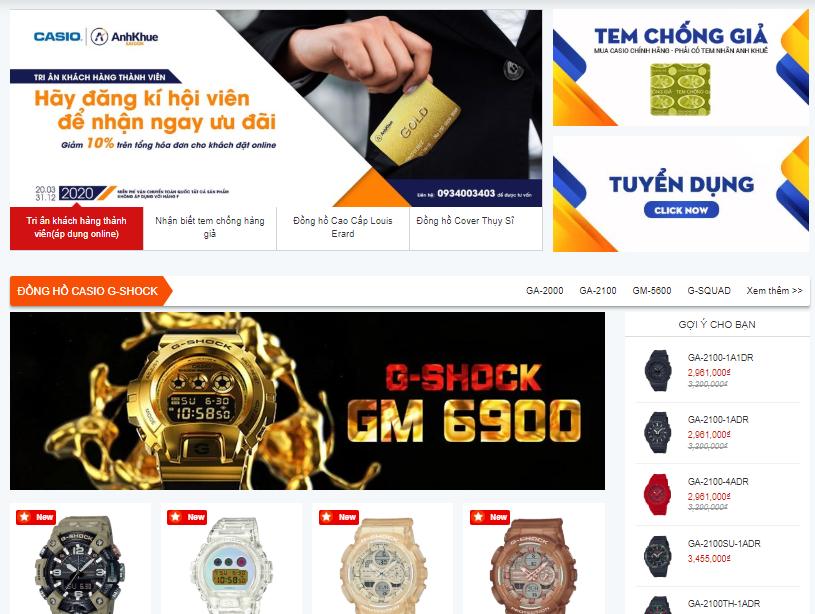 Anh Khuê - Shop đồng hồ nam uy tín và giá rẻ nhất hiện nay.