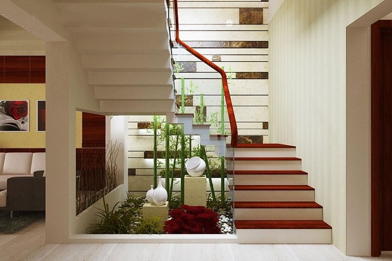 Thiết kế tiểu cảnh cầu thang đẹp và ấn tượng