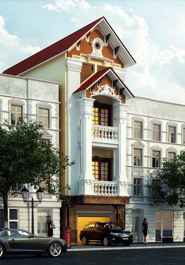 Nhà phố cổ điển với thiết kế hiện đại, hình thức sáng tạo đầy mới mẻ