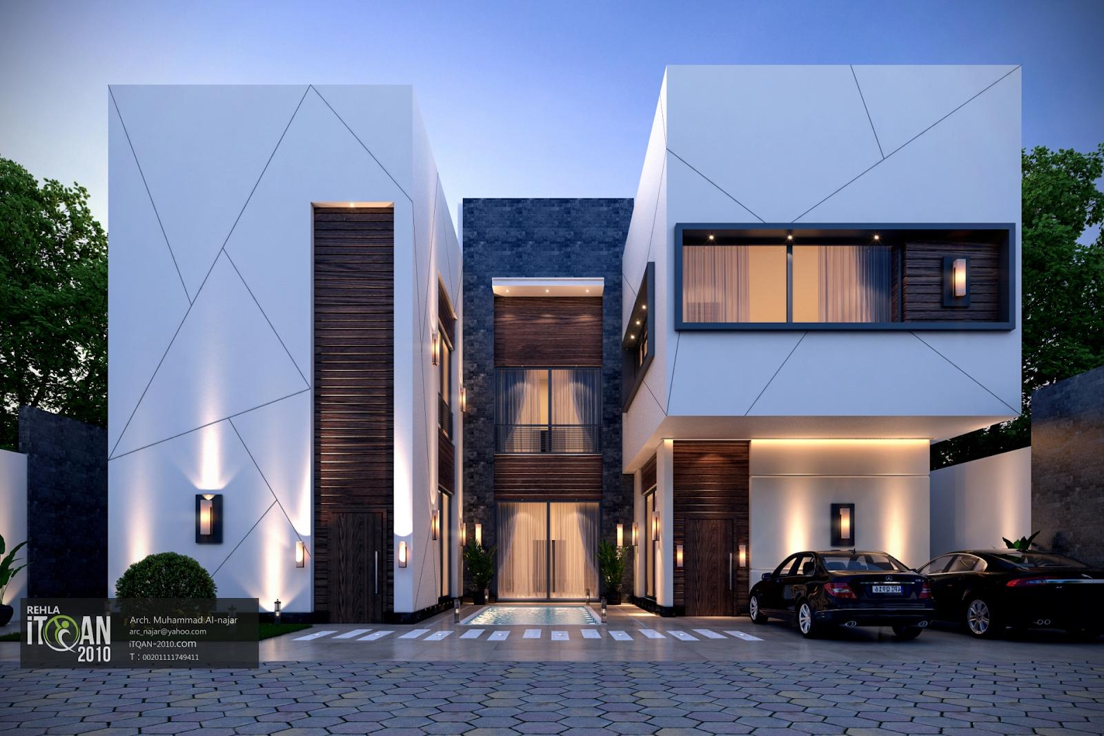 Mẫu biệt thự 2 tầng hiện đại có bố cục tự do cùng lối thiết kế tối giản