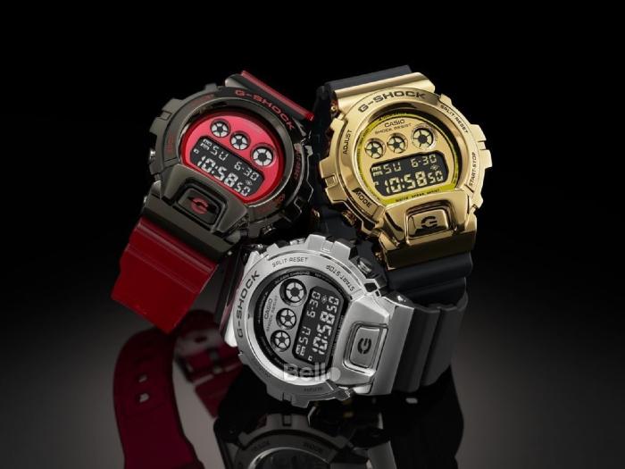 Đồng hồ đeo tay điện tử Casio GM-6900G-9 với thiết kế cá tính, ấn tượng.