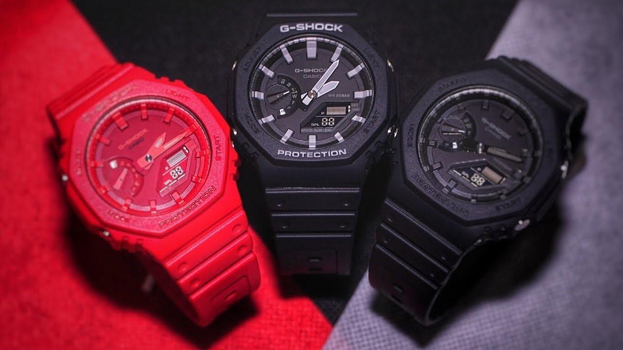 Đồng hồ G-Shock  Protection GA-2100 mang nét thanh mảnh nhưng đầy sang trọng.