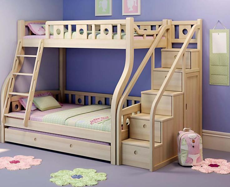 Cha mẹ cần lưu ý những gì khi chọn giường tầng cho bé gái?