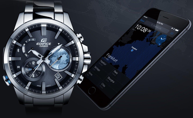 Nhiều mẫu đồng hồ Casio nam chính hãng cho phép kết nối Bluetooth với smartphone.