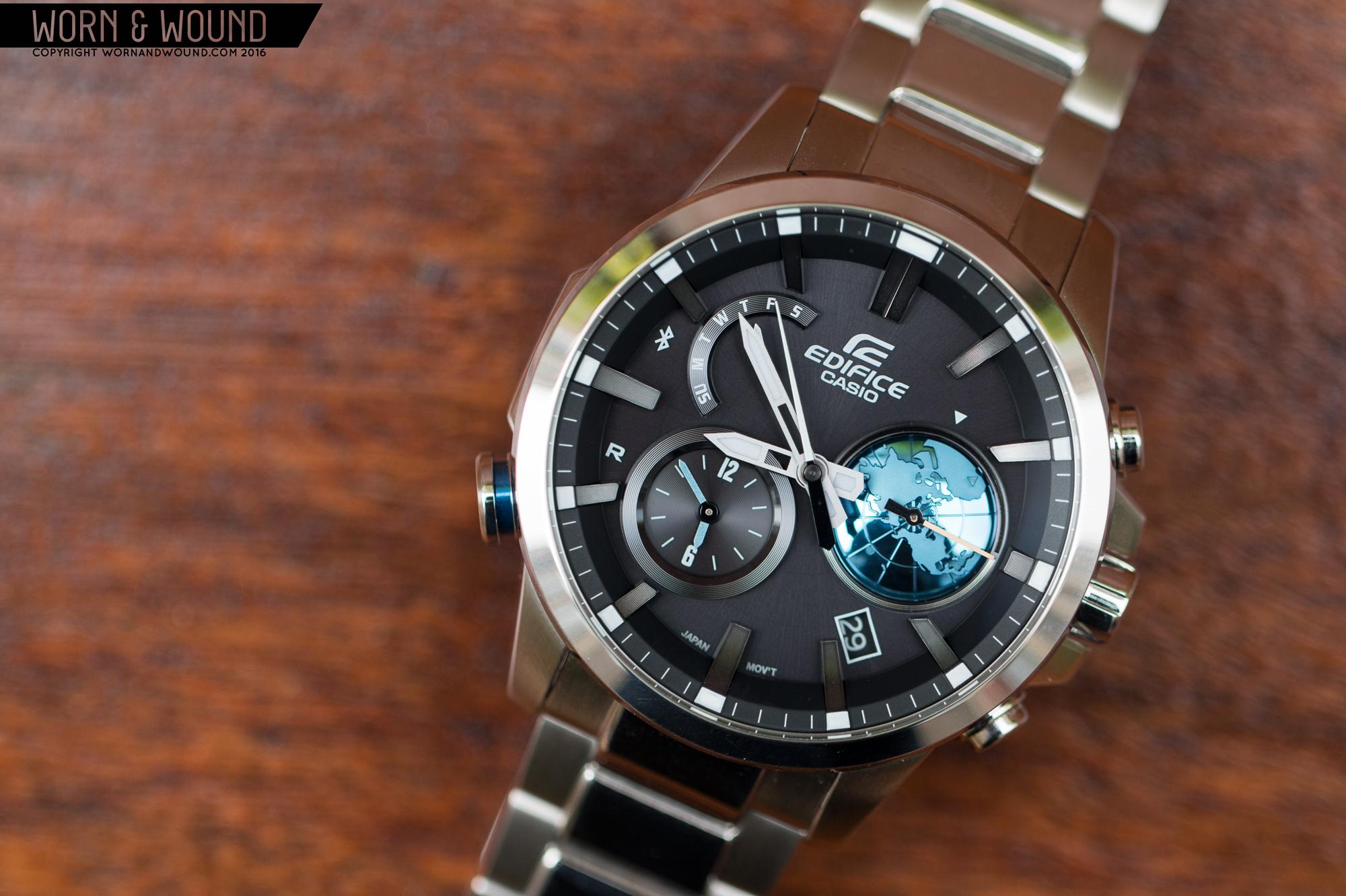 Thiết kế chi tiết đồng hồ Edifice chính hãng sắc nét.
