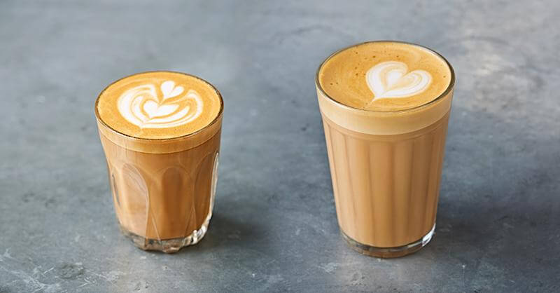 What is the difference between a flat white and a latte?