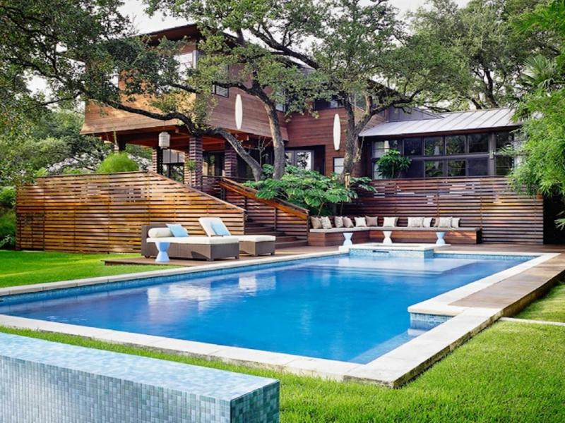Sự kết hợp tuyệt vời giữa biệt thự mini sân vườn và hồ bơi