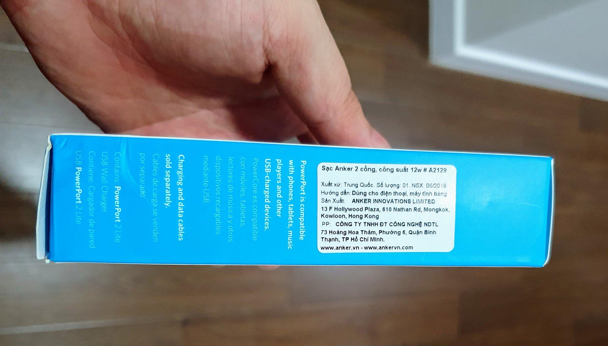 Kiểm tra tem nhãn đầy đủ trên sản phẩm.