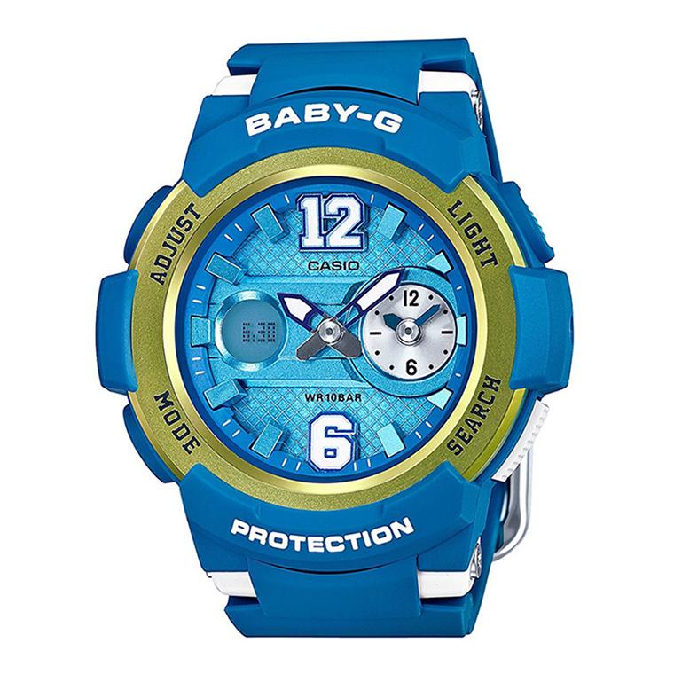 Đồng hồ Casio nữ BGA-210-2BDR tươi trẻ với màu xanh dương