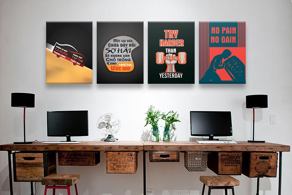 Lựa chọn tranh treo văn phòng có kích thước phù hợp