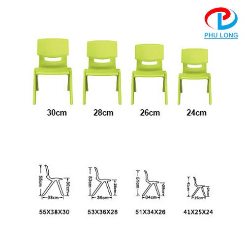 Lựa chọn ghế học sinh có chiều cao phù hợp