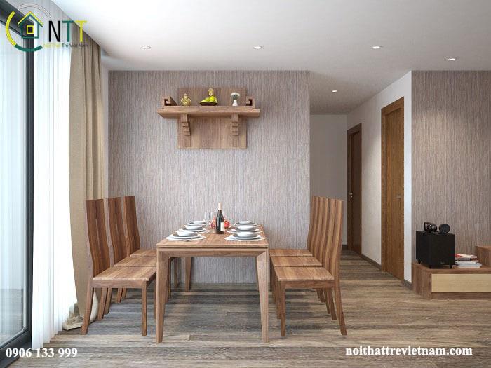 Lựa chọn mẫu bàn thờ có kích thước phù hợp với không gian của bạn