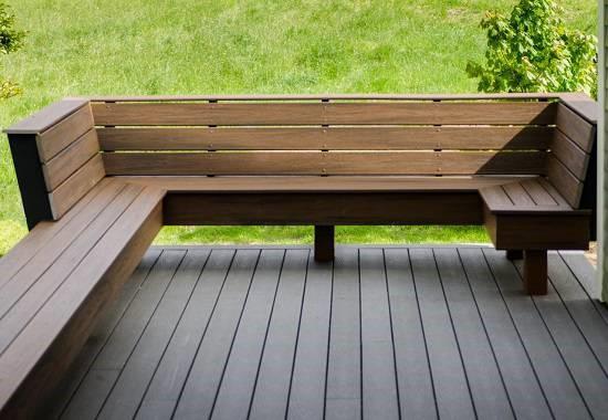 Bàn ghế gỗ nhựa ngoài trời có mẫu mã đẹp, hiện đại
