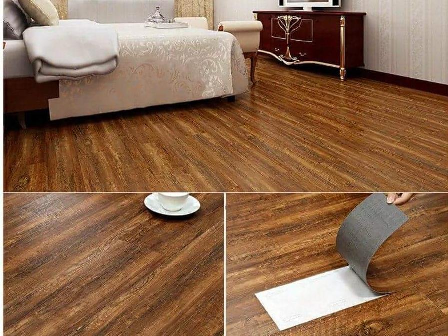 Thi công sàn nhựa tự dán rất đơn giản, nhanh chóng janhome