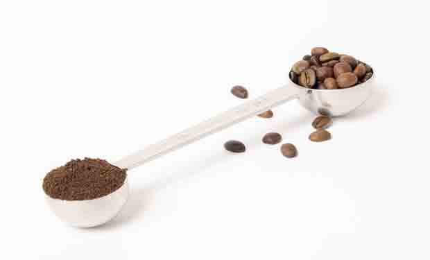 A scoop of coffee to make a cup