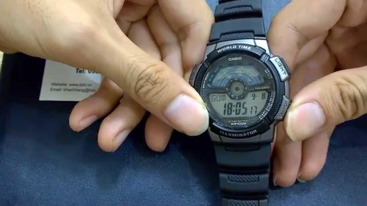 Cách chỉnh đồng hồ Casio Edifice - Chỉnh giờ