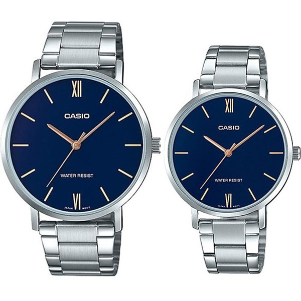 Cặp đôi đồng hồ Casio LTP-VT01D-2BUDF/MTP-VT01D-2BUDF luôn có sức hấp dẫn kỳ lạ