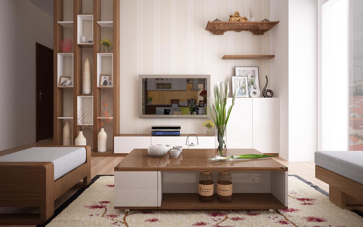 Chất liệu gỗ vừa sang trọng và thân thiện giúp không gian trong lành