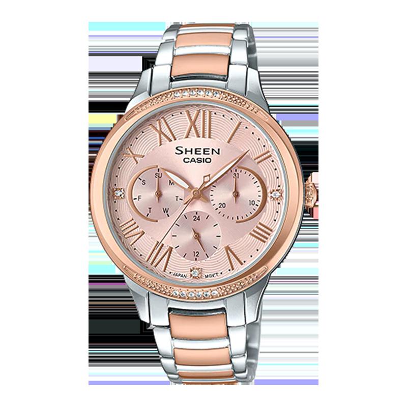 Đồng hồ kim loại Casio nữ giới SHE-3058SPG-4AUDR Đồng hồ kim loại Casio nữ giới SHE-3058SPG-4AUDR