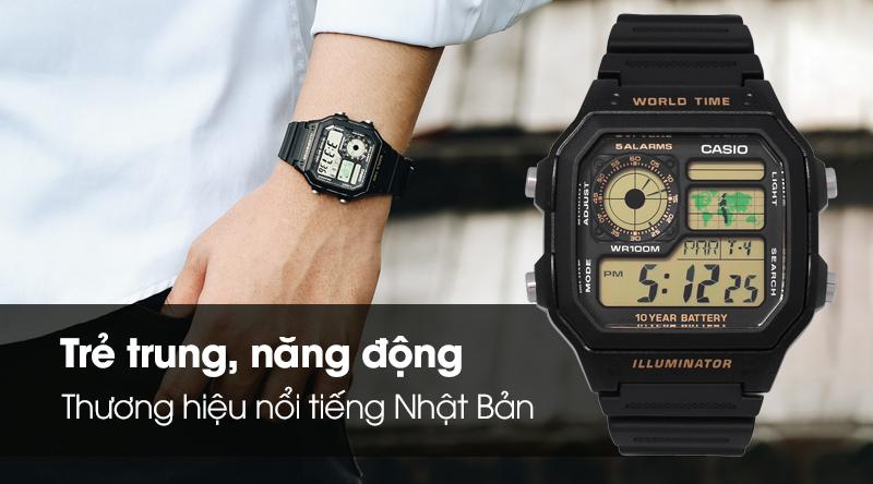 Đồng hồ Casio AE-1200WH-1BV