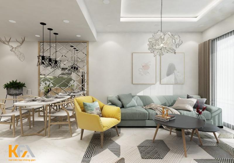 Thi công nội thất trọn gói chung cư 60m2 đẹp tuyệt vời