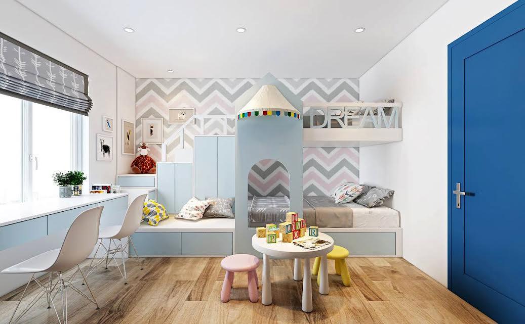 Thiết kế nội thất sáng tạo mang đến không gian thoải mái cho trẻ