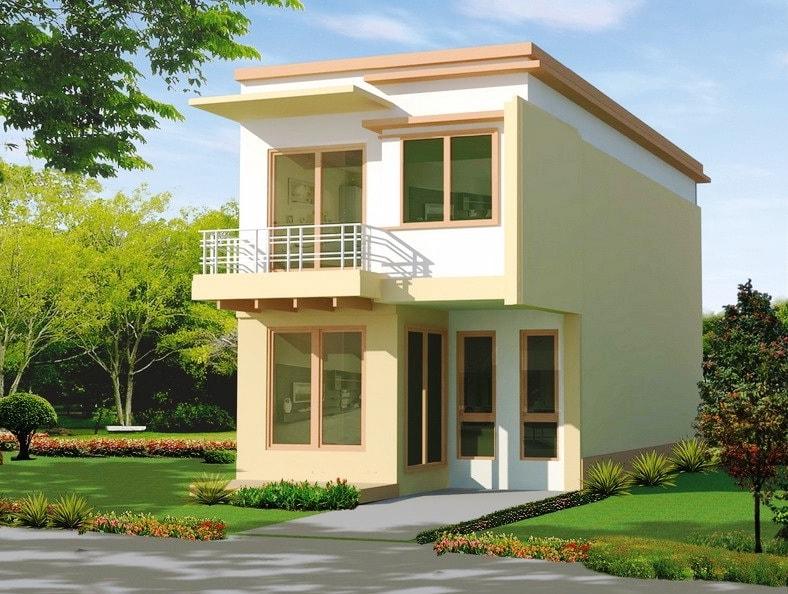 Mẫu nhà đẹp 2 tầng với thiết kế đơn giản