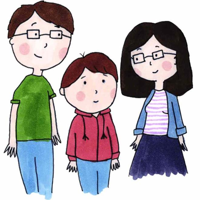 Cận thị do di truyền từ bố mẹ.