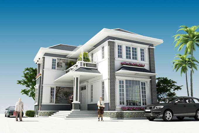 Thiết kế nhiều mặt trống giúp ngôi nhà lấy sáng tự nhiên