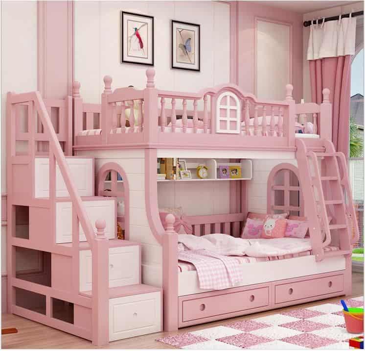 Vì sao nên mua giường 2 tầng thấp cho bé?