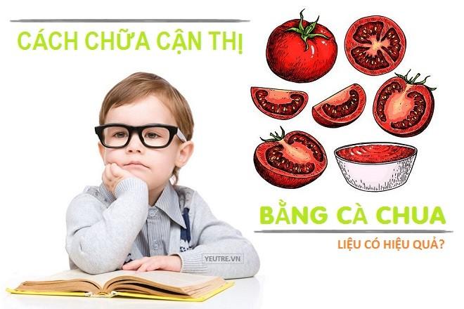 Cà chua chỉ hỗ trợ điều trị, bổ sung chất dinh dưỡng cho mắt