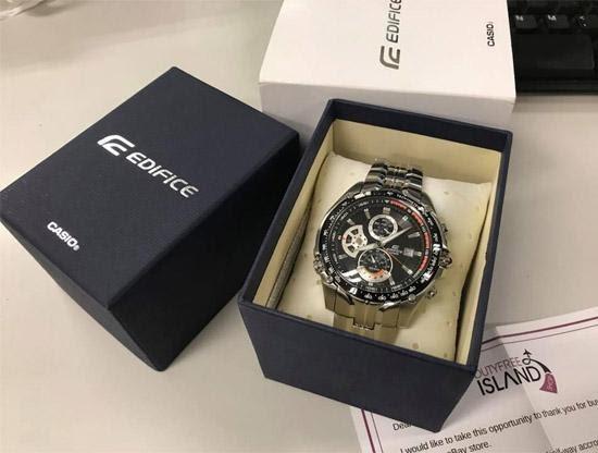 Kiểm tra hộp đựng đồng hồ nam dây da chính hãng