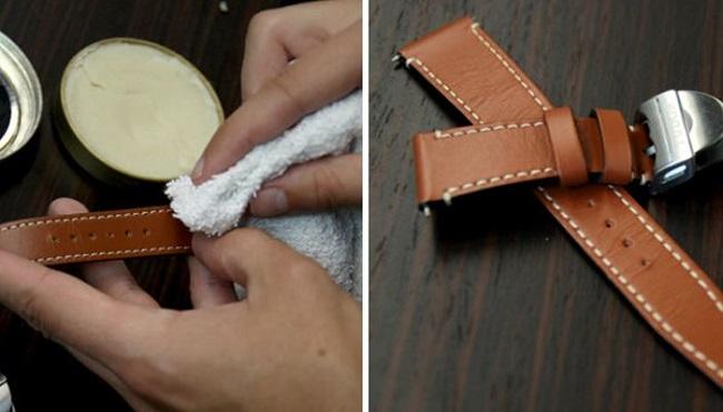 Dầu oliu giúp dây da đồng hồ điện tử bóng và mượt hơn